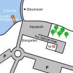 Aquapark op Edersee - kaart