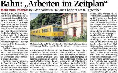 8 September begint de bouw van de 2 treinstations