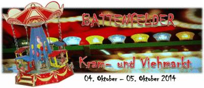 Zaterdag 4 t/m Zondag 5 Oktober Kram und Viehmarkt Battenfeld