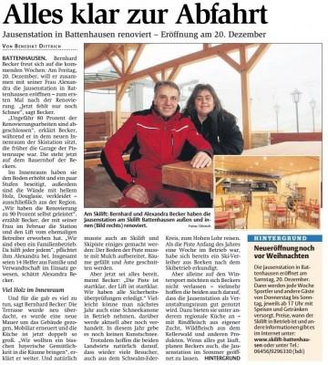 Zaterdag 20 December Heropening Jausenstation Battenhausen