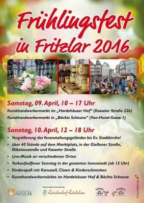 Zaterdag 9 en Zondag 10 April Frühlingsfest