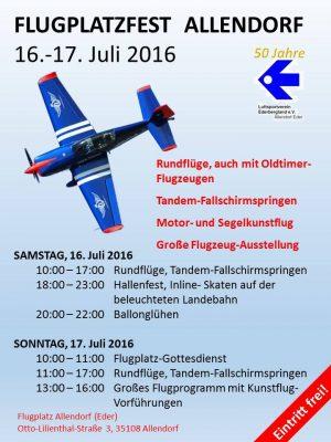 16 t/m 17 Juli Flugplatzfest Allendorf aan de Eder