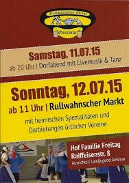 Zondag 12 Juli Rullwahnscher markt in Geismar