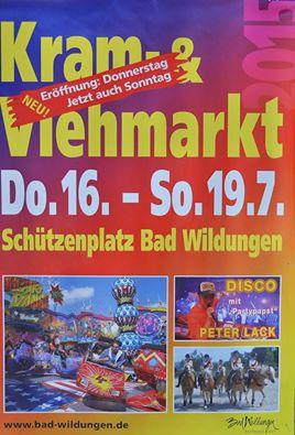 Donderdag 16 Juli t/m Zondag 19 Juli Kram und Viehmarkt Bad Wildungen