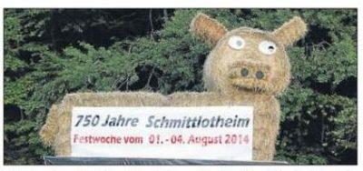 1 Aug. t/m 4 Aug. 750 jarig bestaan Schmittlotheim