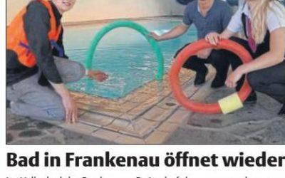 Zaterdag 28 April Heropening zwembad Feriendorf Frankenau